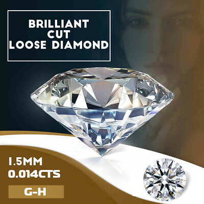 1/2/5/10Pcs Natural Cut Loose Diamonds Round Stone G-H White Color 100% Real !