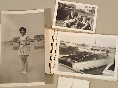 Lot of 53 Vintage Photos, 40s 50s New Jersey, boats, beach, family fun snapshots