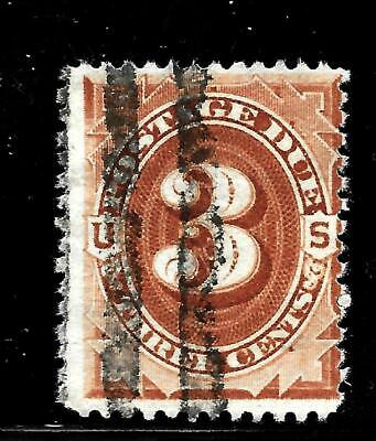 Hick Girl Stamp-Old Used U.s. Sc#j3  Postage Due Issue 1879     X7610