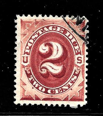 Hick Girl Stamp-Old Used U.s. Sc#j16  Postage Due Issue 1884     X7611