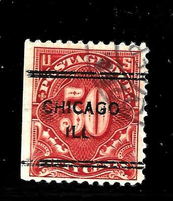 Hick Girl Stamp-Old Used U.s. Sc#j67  Postage Due  Perf.11   No-Wmk.     X7613