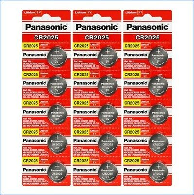 Panasonic CR2025 Lithium Button Battery for Watches and Small Electronic 15-Pack