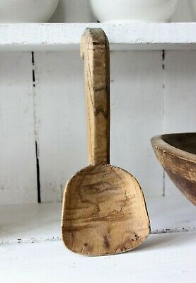 Antique 19th Century Butter Paddle Worker American Ash Hand Carved Folk Art