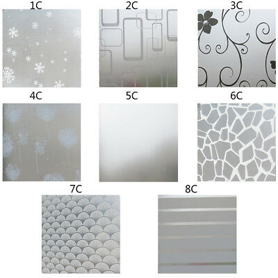 60cm*200cm 3D Static Cling Frosted Flower Door Window Glass Film Sticker Privacy