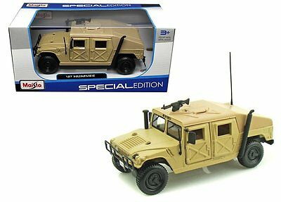 Maisto 1/27 Scale Hummer Military Humvee Sand Diecast Truck SPECIAL EDITION