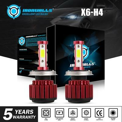 270000LM 1800W Motorcycle Bike 4 Side LED Headlight H4 9003 HB2 Hi/Lo 6000K Bulb