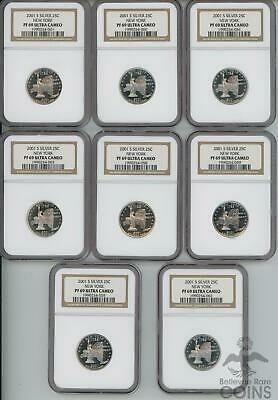 Lot of 20: 2001 2002 2004 Proof Silver State Quarters PF69 Ultra Cameo