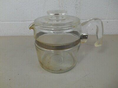 Vintage Stove Top 6-Cup Pyrex 7756-B Percolator Coffee Pot and Lid Only