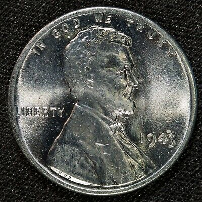 1943 Lincoln Steel Wheat Cent BU Item#M4242