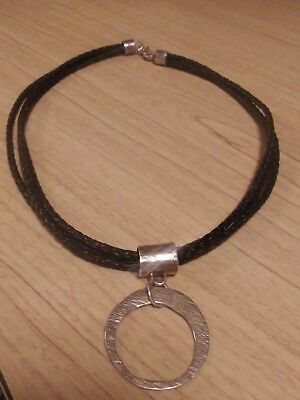 Silpada Rope Necklace And 925 Sterling + Sterling Pendant