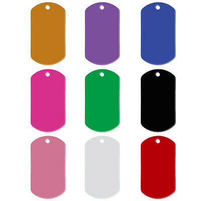 20pcs/lot Aluminum Custom Military Dog Tags Disc Personalized Engraved ID Tags
