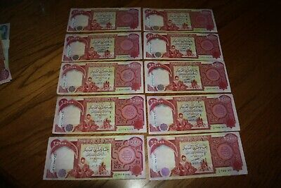 250,000 IQD - (10x) 25,000 IRAQI DINAR Notes - CIRC & AUTHENTIC -FAST DELIVERY