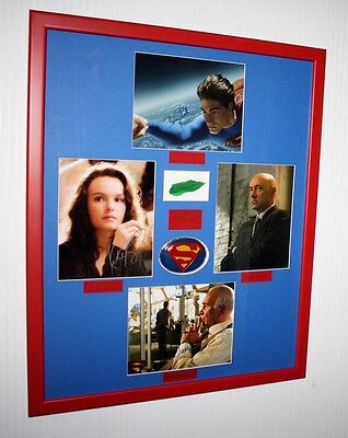 SUPERMAN Signed AUTOGRAPHS Routh, Spacey, Bosworth, Langella + KRYPTONITE Prop