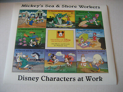 St.vincent & The Grenadines 1996 Disney Characters At Work-Mickey's Sea & Sho
