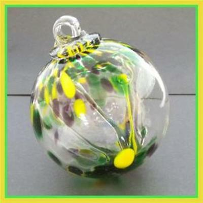"""Hanging Glass Ball 3"""" Diameter """"Southern Tree"""" Witch Ball (1) 3IN#29"""
