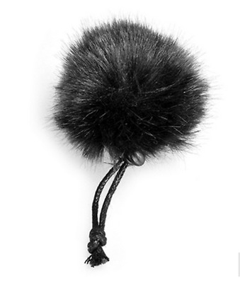 CoMica Furry Outdoor Microphone Wind Muff for Compact Lapel Lavalier Mics Black
