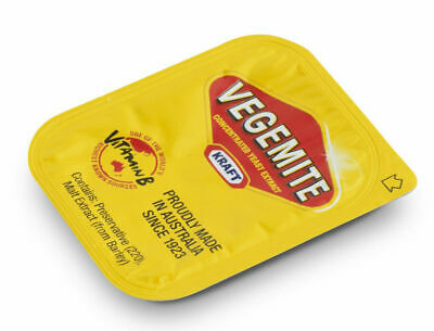 Vegemite  10 X 4.8g Single Serve Portions. Travel Size Sachet Packet