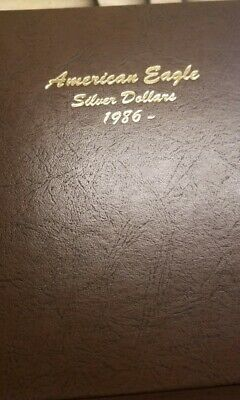 1986-2019 American Silver Eagle ASE $1 FULL 34-Coin SET in Dansco leather album