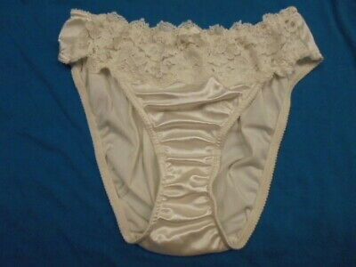 6042629028b0 Vintage Victoria's Secret Second Skin Satin Bikini Panties with lace