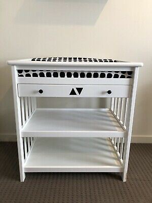 Baby Nursery Change Table With Drawer And Shelf