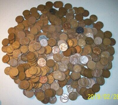 Bag Of 500 Lincoln Wheat Cents! (10 Rolls) Nice Mix 1909-1958 P-D-S!  G-Bu!