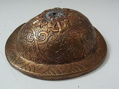 Antique Mongolian Tibetan  Buddhist Copper  Skull Cup Lid
