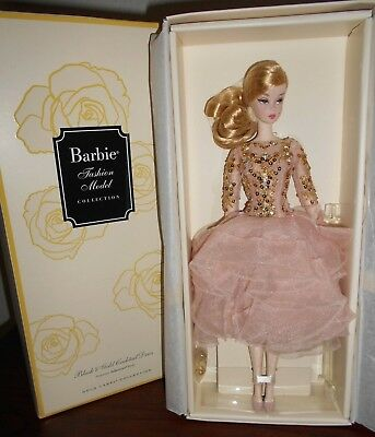 Barbie....blush And Gold Cocktail Dress...silkstone....nrfb