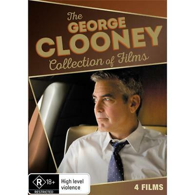 George Clooney Collection Of Films (DVD, 2016, 4-Disc Set) Brand New & Sealed R4