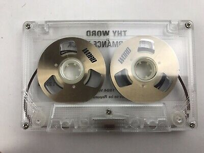 "Vintage Collectible WORD Metal ""Reel to Reel"" Audio Cassette Tape"