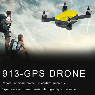 2.4G Drone Brushless RC With Wifi FPV 8.0MP 1080P HD Camera 913-GPS Quadcopter,