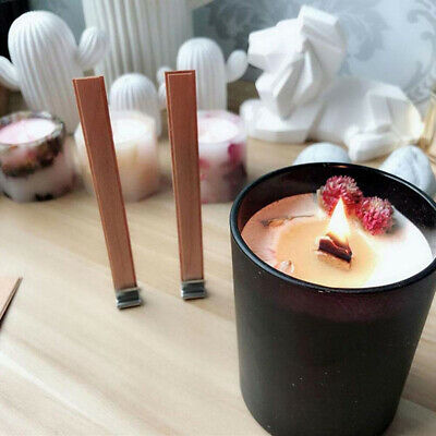 100Pcs Wood Candle Wicks with Wick stickers DIY Soap / Candle Making 13Mm*13Mm