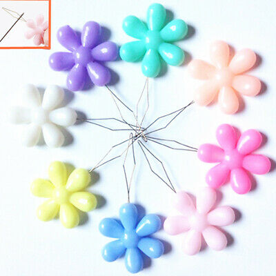 20pcs For Hand Sewing Convenient Colorful Needle Threader Durable Flower Shape