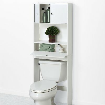 BATHROOM SPACE SAVER Storage Wood Closet Cabinet Toilet ...