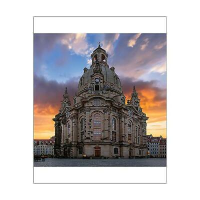 "13574713 10""x8"" (25x20cm) Print Sunrise with Dresden Frauenkirche..."