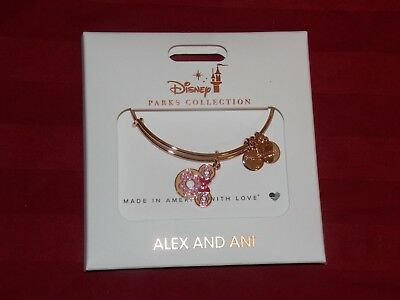 Disney Parks Alex & Ani Donut Snack Food ROSE GOLD Bracelet NEW IN HAND