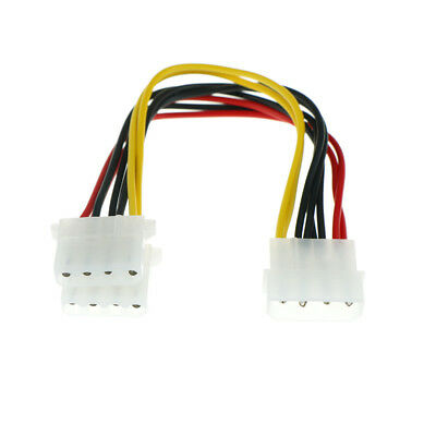2pcs 4 Pin Male to 2 port IDE Female Power Supply Splitter Adapter Cable 18cm JR