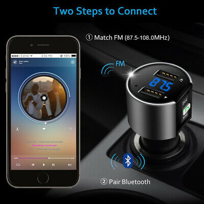 Bluetooth Car USB Charger Radio Adapter FM Transmitter MP3 Player Wireless 3.4A