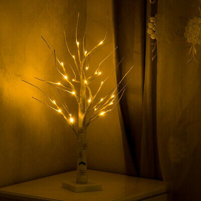 Easter Tree Decorations With Lights White Light Up Led Twig Tree