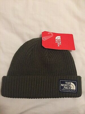 The North Face Tnf Salty Dog Beanie Hat Army Green Outdoors Hype Rare Street