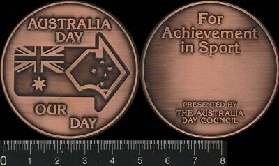 Australia Day-Our Day, For Achievement in Sport medal, Australia Day Council