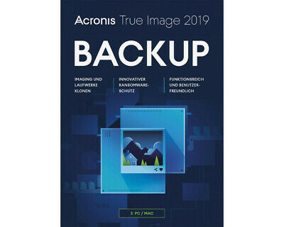 Acronis True Image 2019 Box Pack 3 Computer