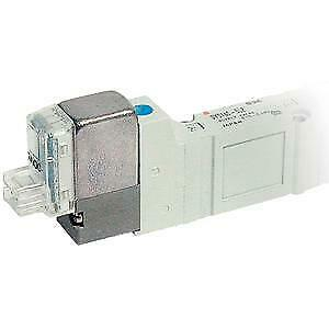 SMC 5 Port Single Solenoid Valve 24V Dc Base Mounted 2Pin Connector Surge Light