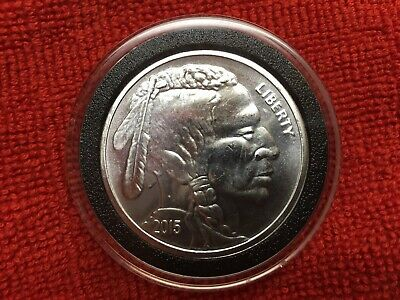 2015 Indian/Buffalo Head 1oz .999 Silver Coin Round with Air-Tite holder