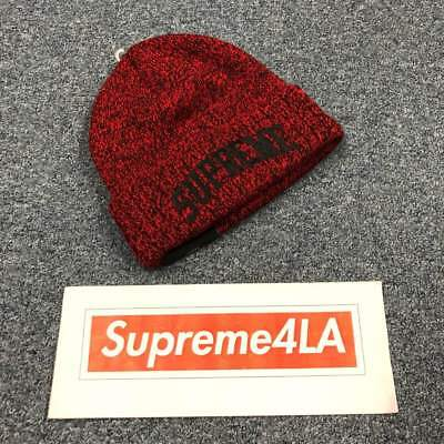 86a2643f308b1 Supreme 18F W New Era Arc Logo Beanie Red 1000% Authentic in Hand