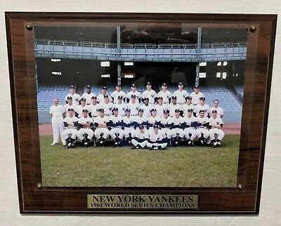 New York Yankees 1961 World Series Champions Photo Wood Plaque Mickey Mantle