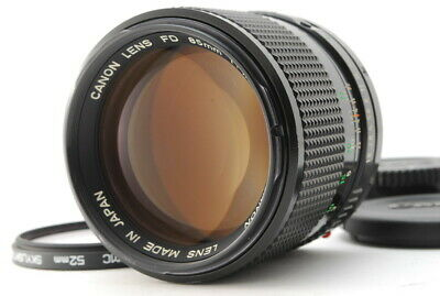 [Exc++++]  CANON NEW FD 85mm  F/1.8 LENS WITH FILTER FROM JAPAN.