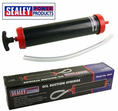 Sealey Oil Suction Vacuum Transfer Hand Syringe Gun Pump Extractor Gearbox Fill
