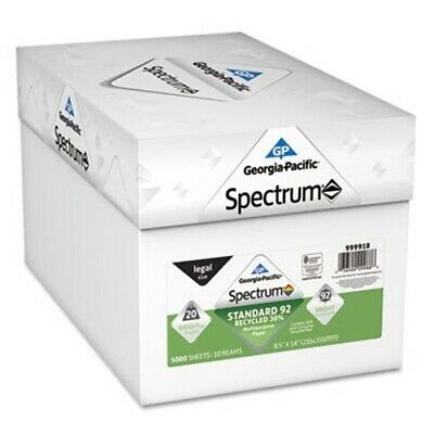 Georgia Pacific Recycled Multi-Use Paper, 8-1/2 x 14, 5000 Sheets (GPC999918)
