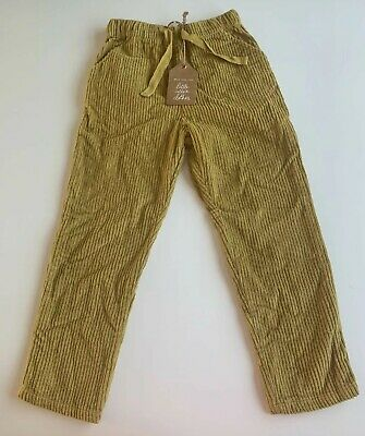 Little Cotton Clothes Yellow Corduroy Trousers 100% Cotton BNWT Age 4-5 years