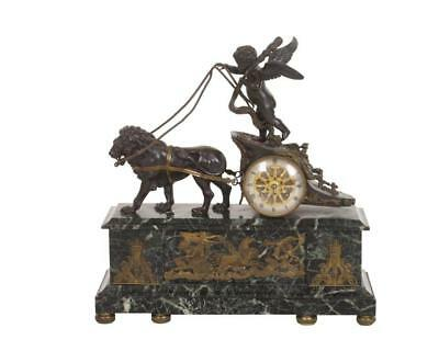 French Chariot Mantel Clock Directoire/ Empire Period 1795-1820 MUSEUM PIECE!!!